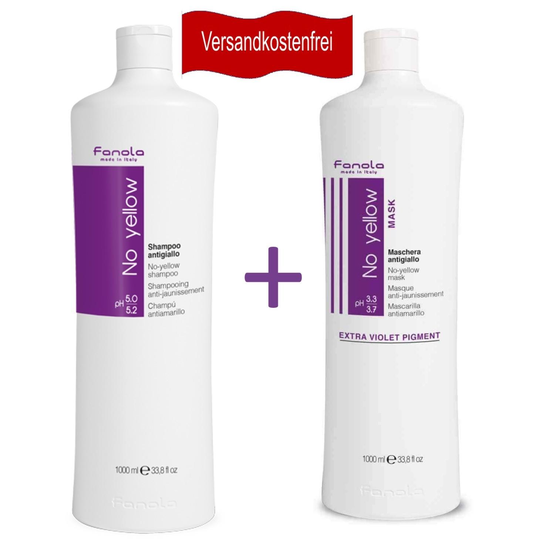 Fanola BUNDLE No Yellow Shampoo 1 L + No Yellow Maske 1 L