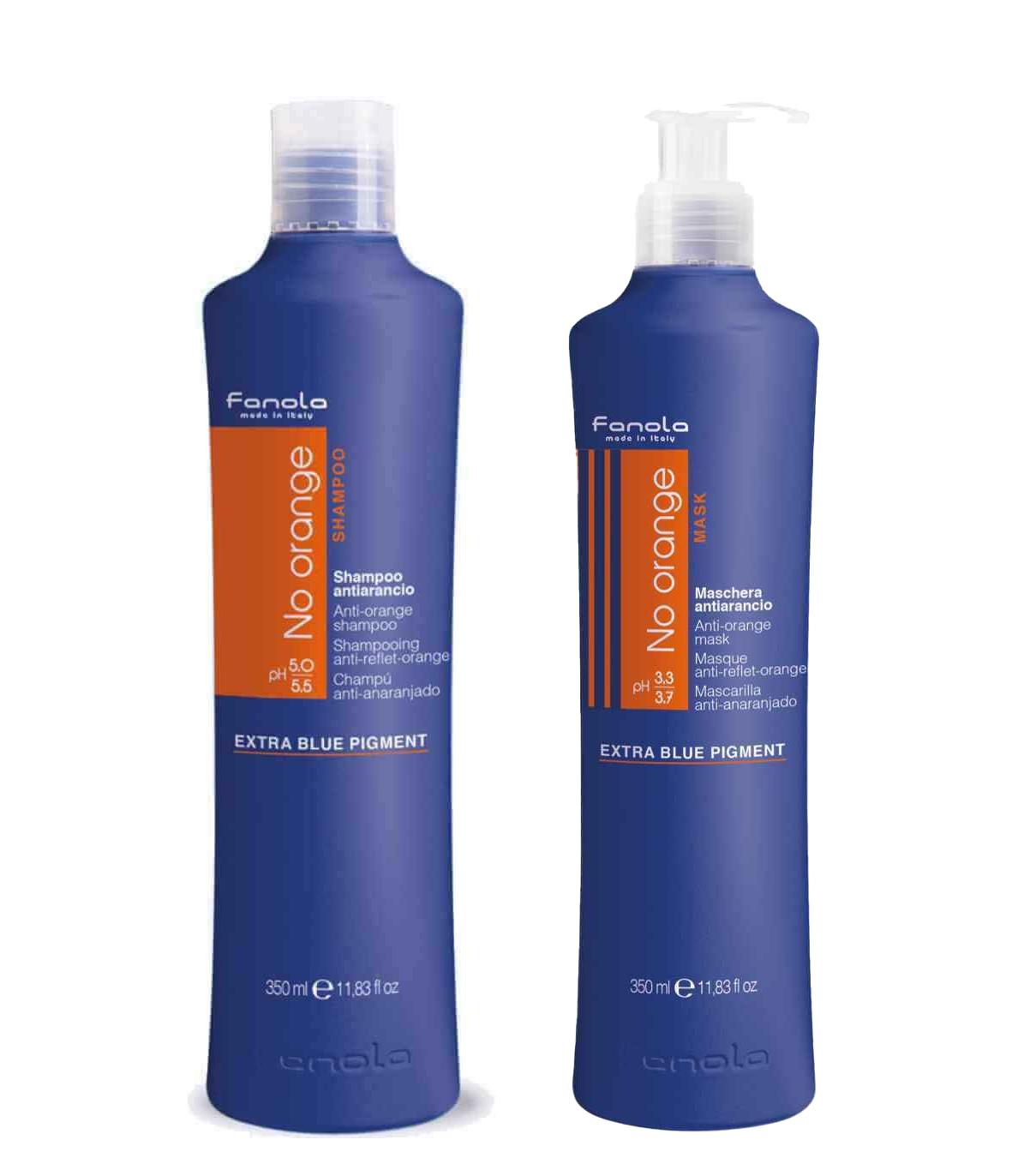 Fanola Set: No Orange Shampoo 1L & No Orange Maske 1L
