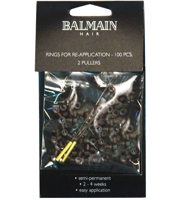 BALMAIN Rings for Re-Application braun 100 St.