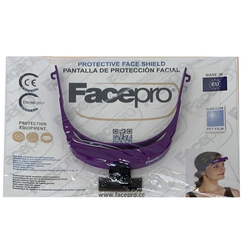 FACE PRO Protective Face Shield violett