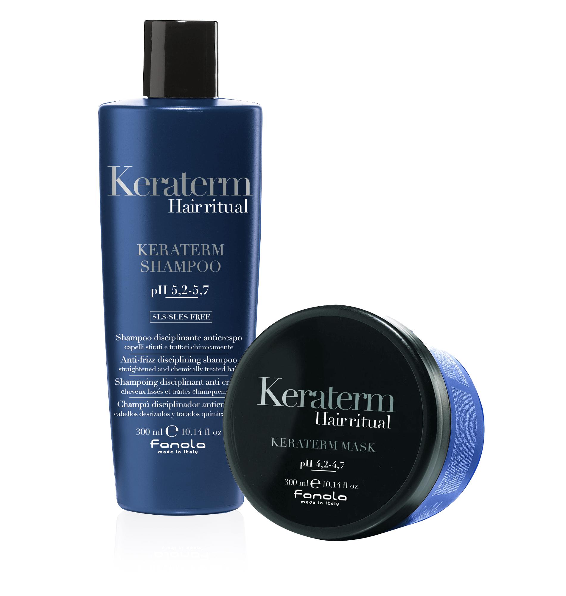 Fanola KERATERM Set: Hair Ritual Shampoo & Hair Ritual Maske 300 ml