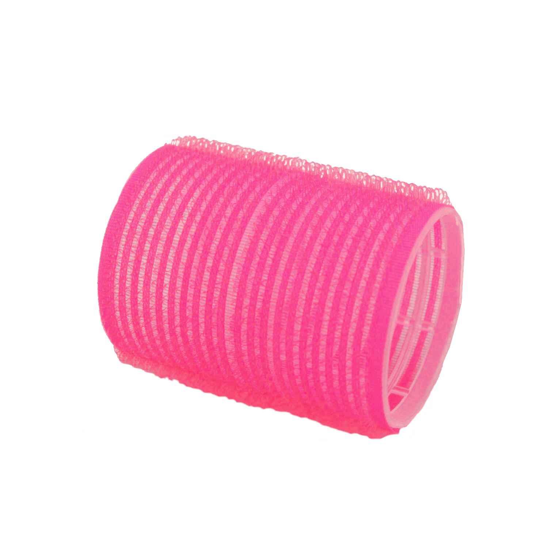 HairCult Haftwickler 60 mm, 12 St., Ø 44 mm rosa