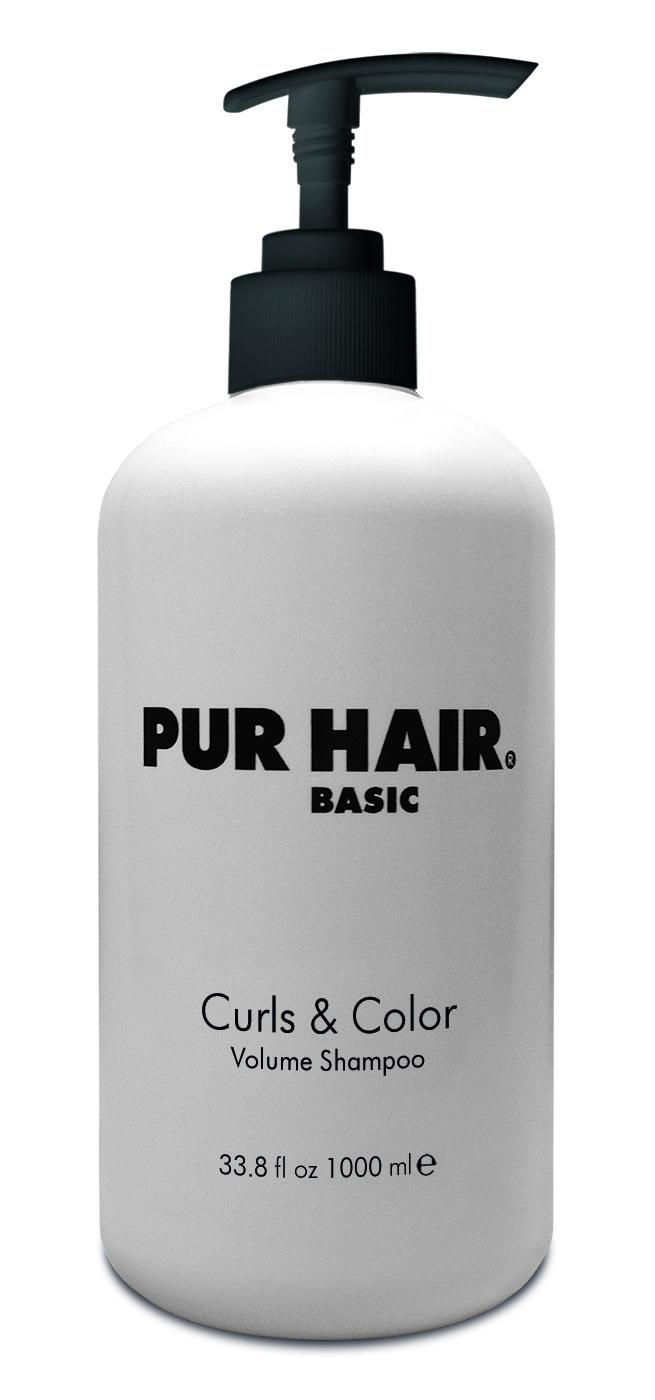 PUR HAIR Basic Curls & Color Volume Shampoo 1 L