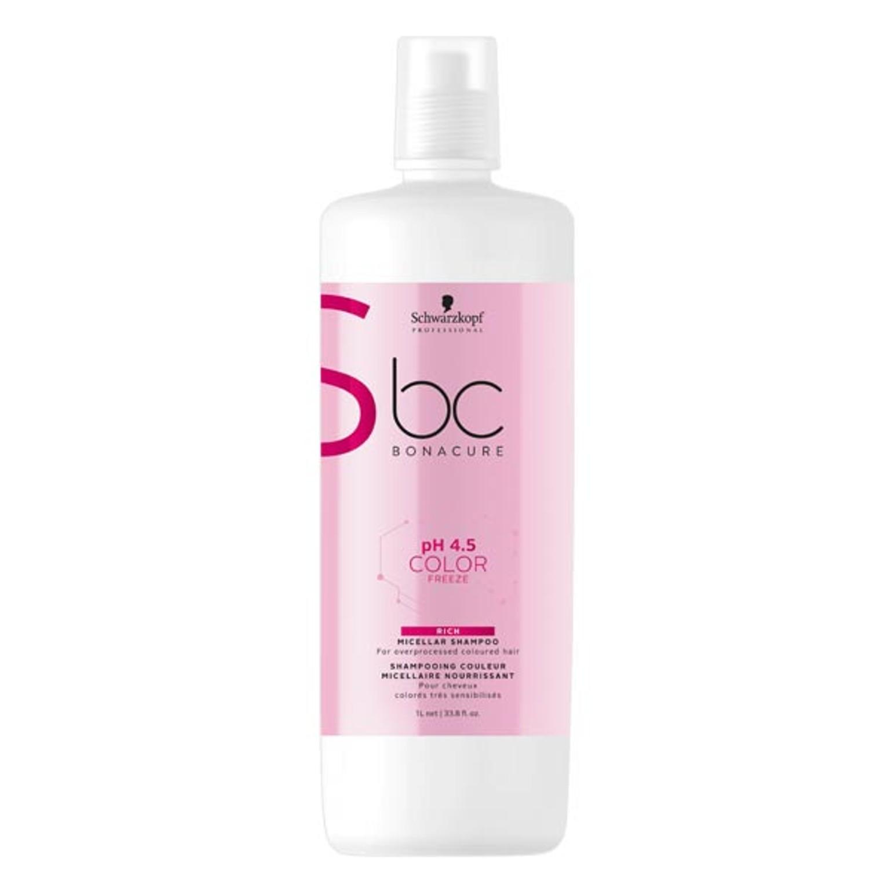 Schwarzkopf BC pH 4.5 COLOR FREEZE Rich Micellar Shampoo 1 L