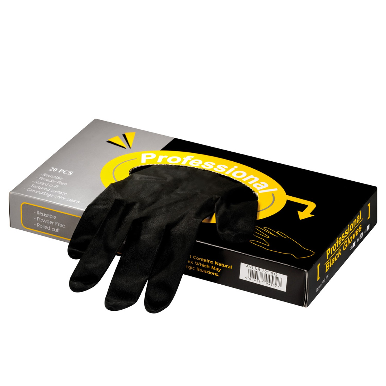 Comair Professional Black Latex-Handschuhe 20 St.