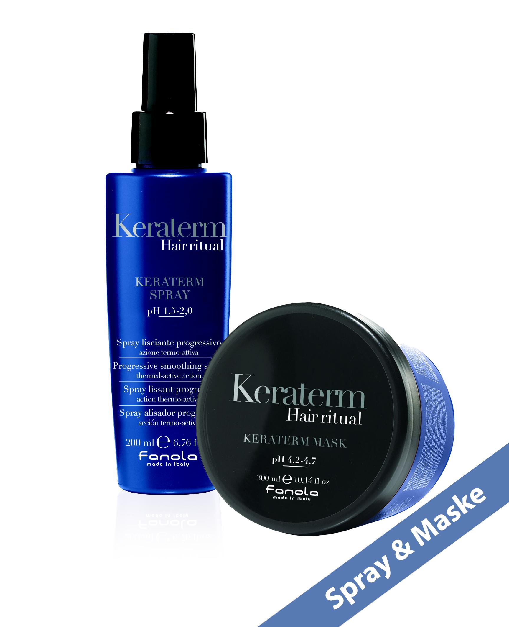 Fanola KERATERM Set: Hair Ritual Spray 200 ml & Hair Ritual Maske 300 ml
