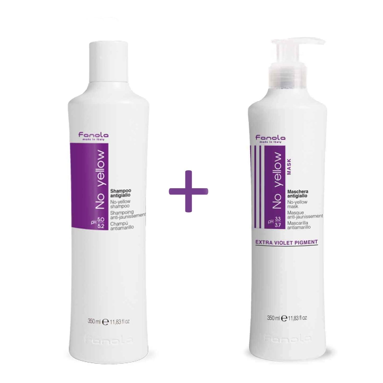 Fanola BUNDLE No Yellow Shampoo 350 ml + No Yellow Maske 350 ml