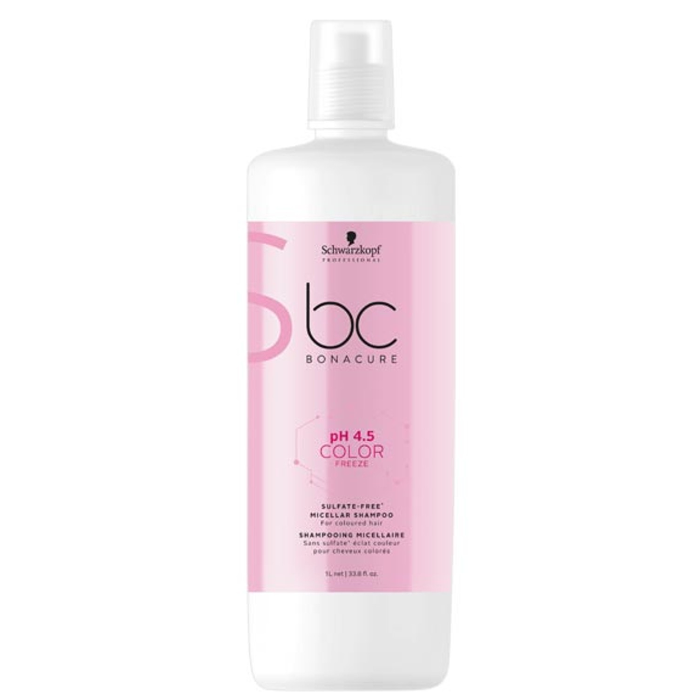 Schwarzkopf BC pH 4.5 COLOR FREEZE Sulfate-Free Micellar Shampoo 1 L
