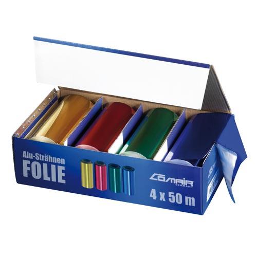Comair Alufolien-Set 24 my BUNT 4 Rollen à 12 cm x 50 m