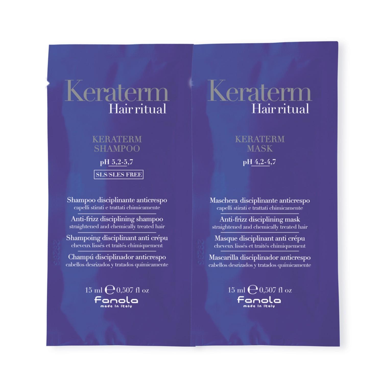 Fanola KERATERM Hair Ritual Shampoo + KERATERM Hair Ritual Maske je 15 ml