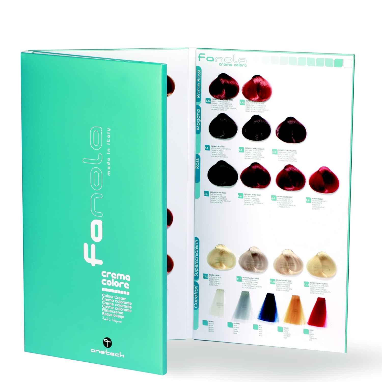 Fanola Hair Color Farbkarte mit 124 Meschen