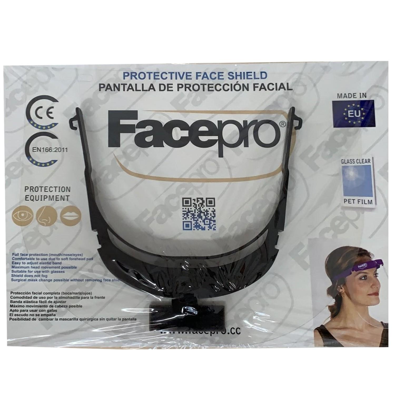 FACE PRO Protective Face Shield schwarz
