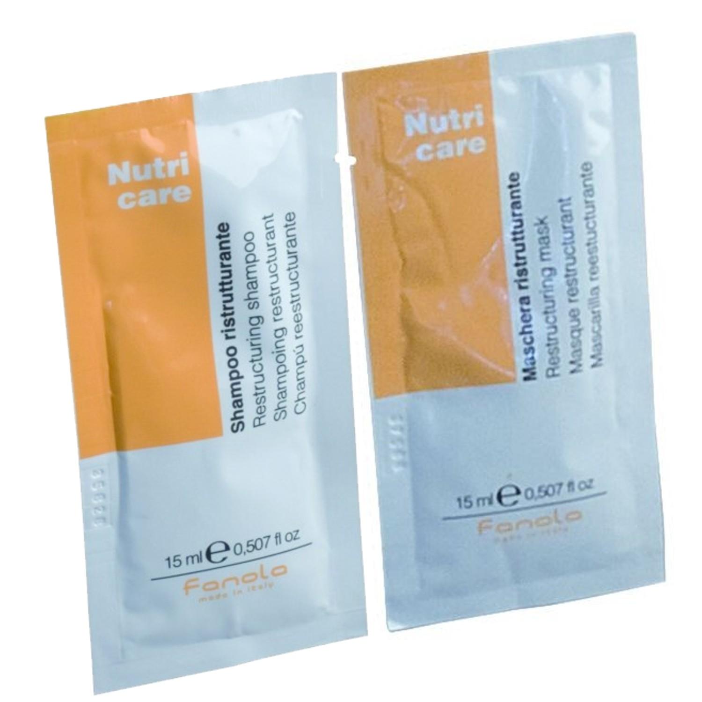 Fanola Nutri Care Shampoo + Nutri Care Pflegemaske je 15 ml