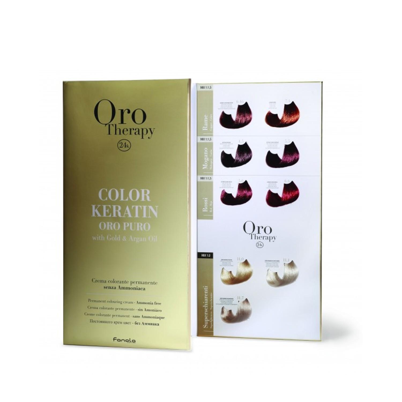 Fanola ORO PURO Therapy Color Keratin Farbkarte klein